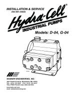 D04 high pressure coolant pump installation, operation and maintenance manual