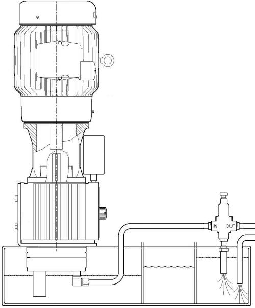 D17 High Pressure Coolant Pump Suggested Installation Sketch