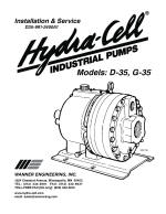D35 coolant pump installation, operation and maintenance manual