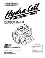 H25 Hydra-Cell Pump Parts Manual